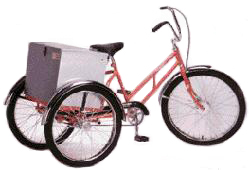 Tricycle Worksman Adaptable (ADC) Industrial Tricycle with Cabinet - Coaster Brake